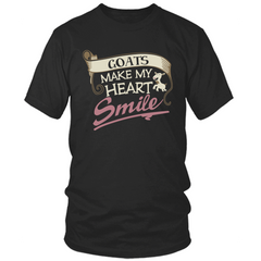 Goats Make My Heart Smile black t shirt