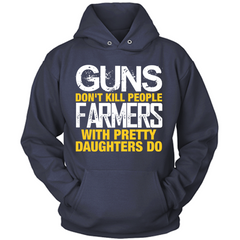 Farmers With Pretty Daughters navy hoodie