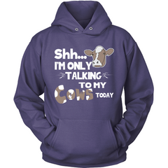 Only Talking To My Cows Today purple hoodie