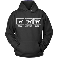 The More Goats The Better black hoodie