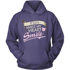 Pigs Make My Heart Smile Hoodie