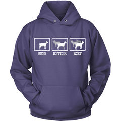 The More Goats The Better purple hoodie
