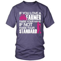 Farmer - Raise Your Standards purple t shirt
