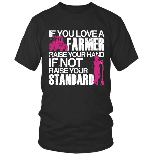 Farmer - Raise Your Standards black t shirt