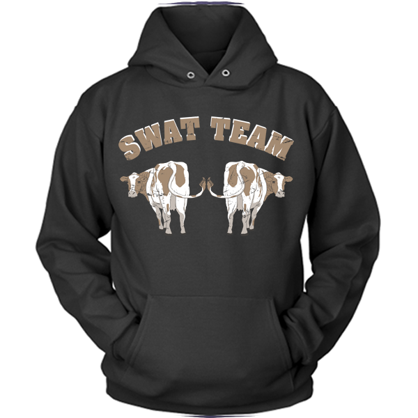 Cow - Swat Team black hoodie