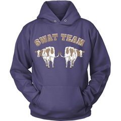 Cow - Swat Team purple hoodie