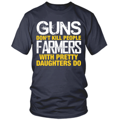 Farmers With Pretty Daughters navy t shirt
