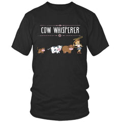 Cow Whisperer black t shirt