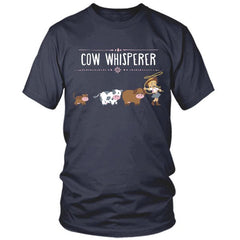 Cow Whisperer navy t shirt
