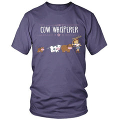 Cow Whisperer purple t shirt