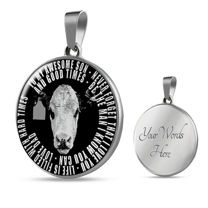 To My Awesome Son Cattle Necklace