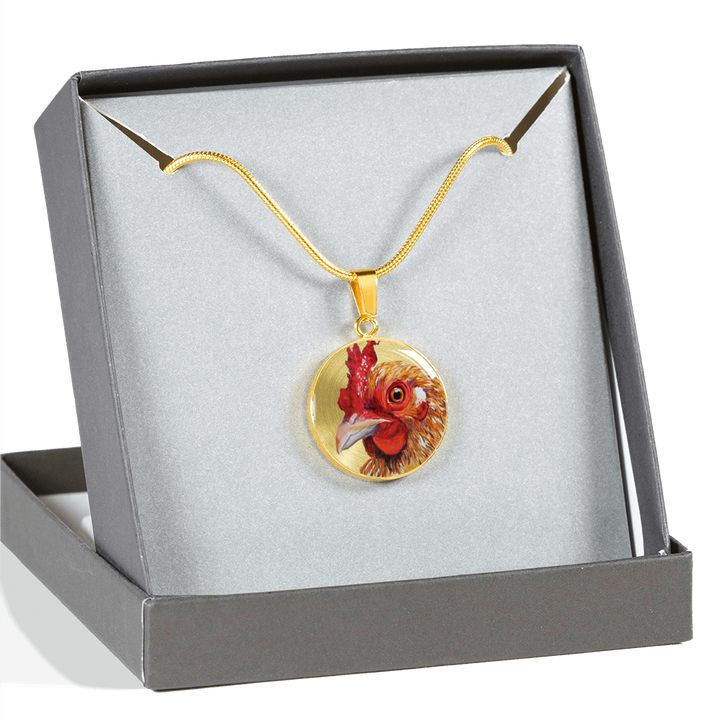18K Gold Chicken Pendant Necklace