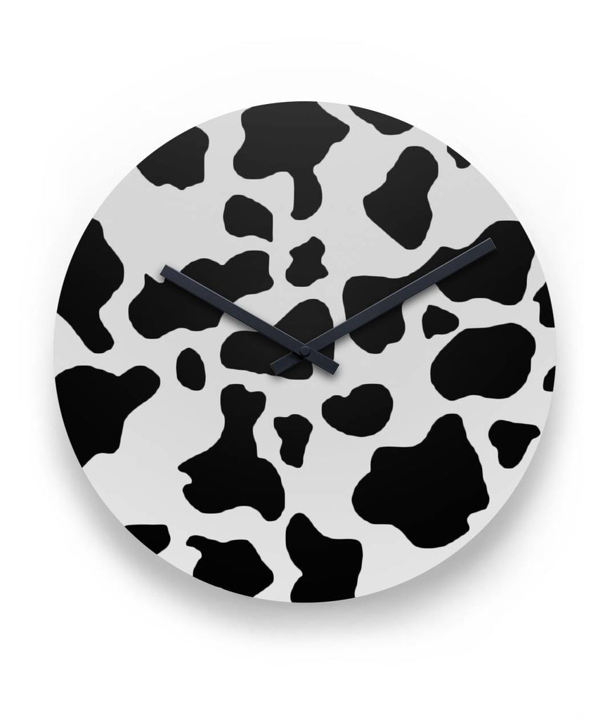 Cow Print Round Wall Clock