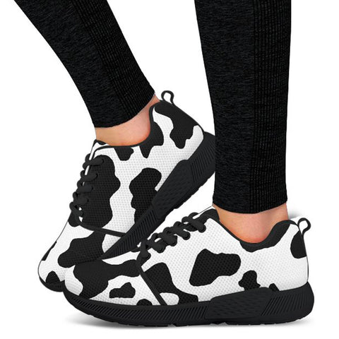 Cow Print Athletic Sneakers