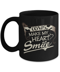 Cows Make My Heart Smile Coffee Mug