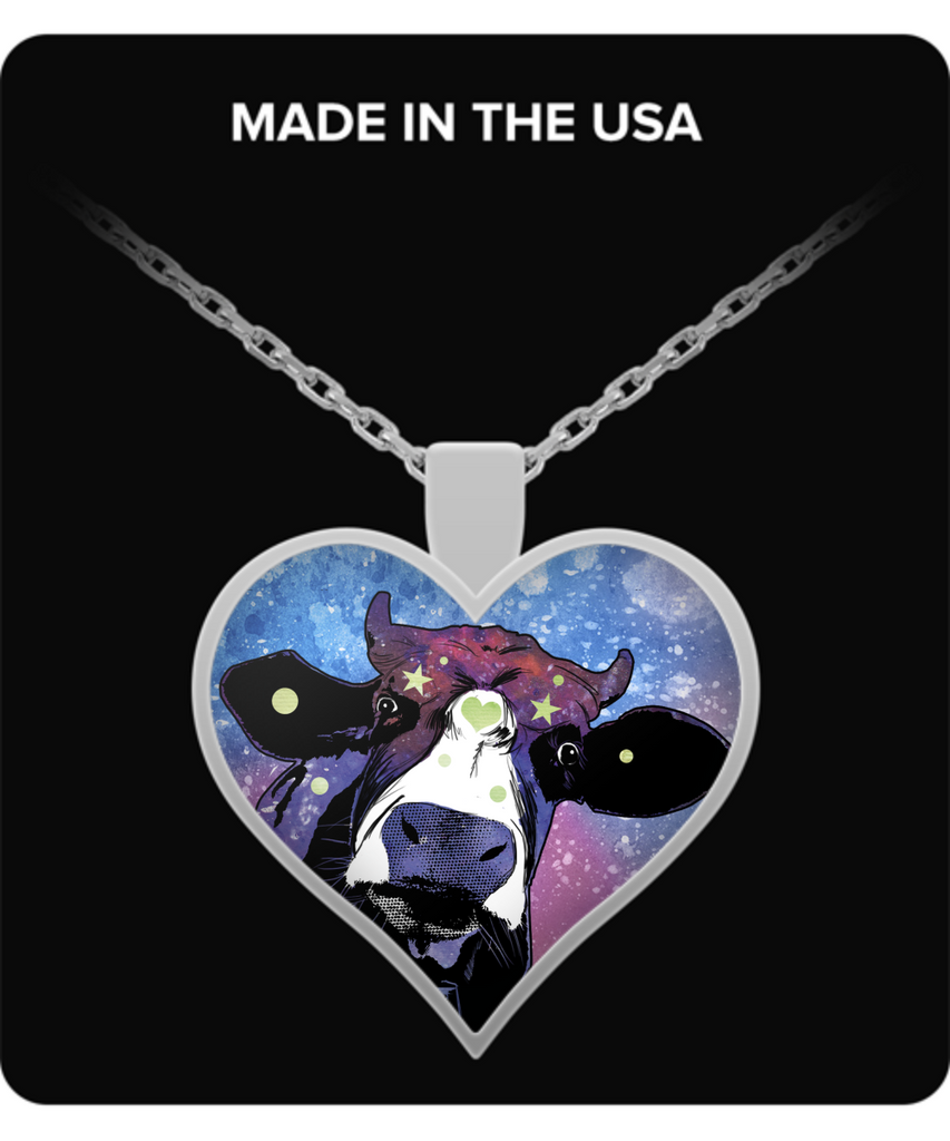 Colorful Cow Heart Necklace