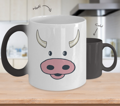 Cow Face Color Changing Coffee Mug