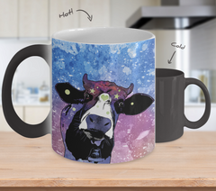 Cow Heart & Star Color Changing Coffee Mug