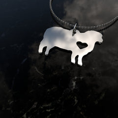 Sheep & Heart Pendant Necklace