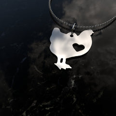Chicken Heart Pendant Necklace