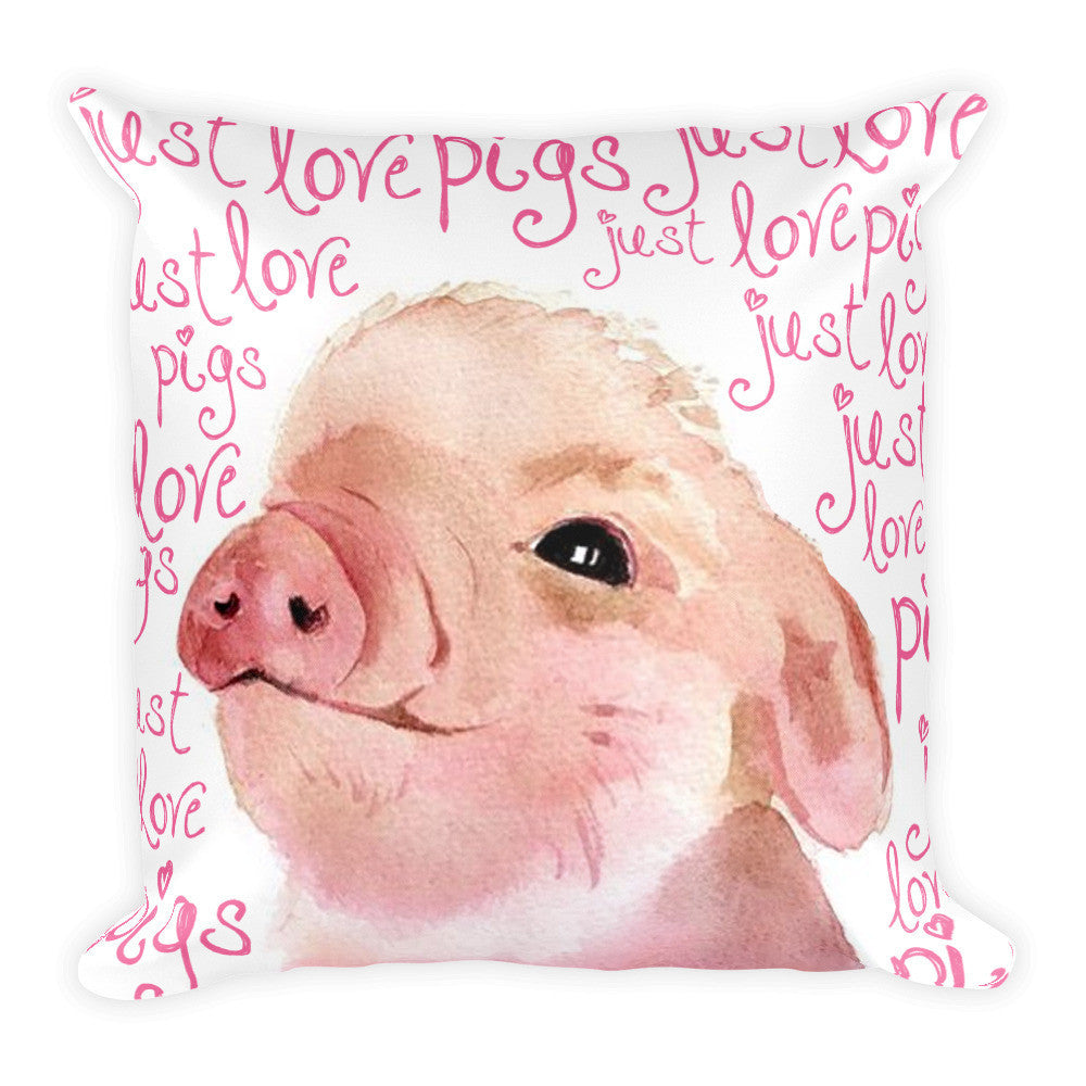 Just Love Pigs Pillow