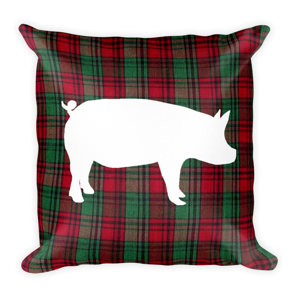 Plaid Pig Pillow
