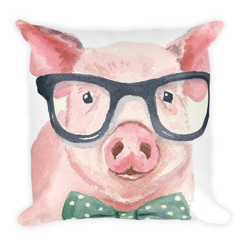 Bow Tie Pig Pillow