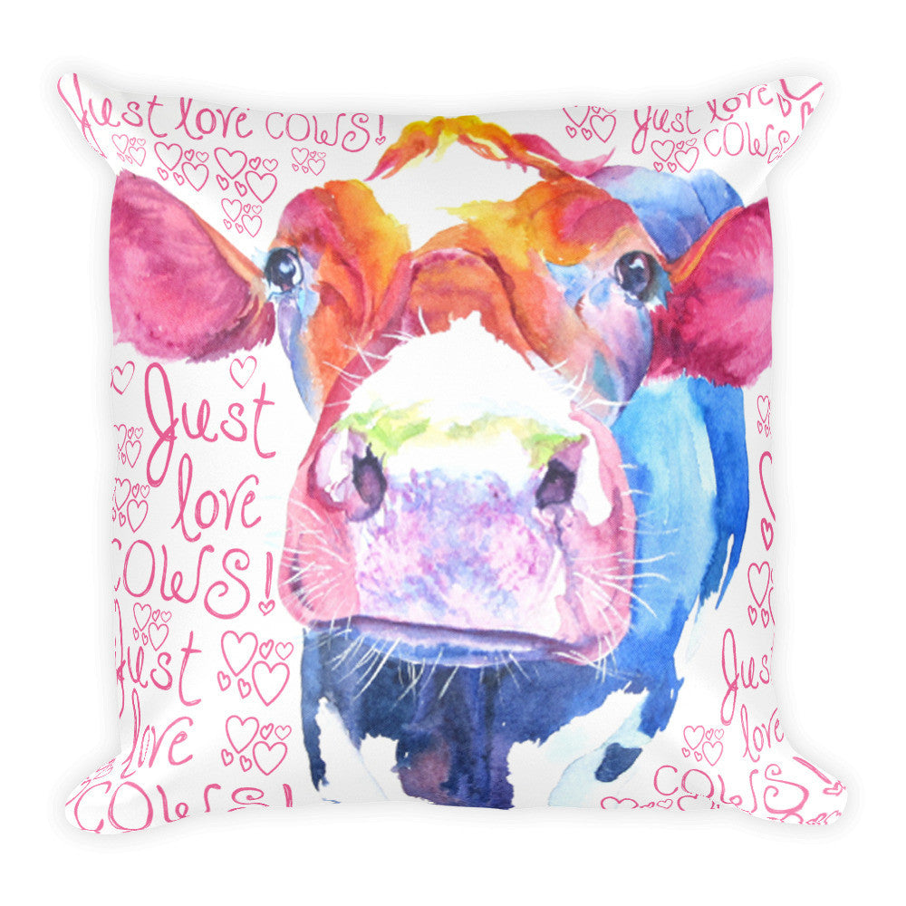 Just Love Cows Pillow