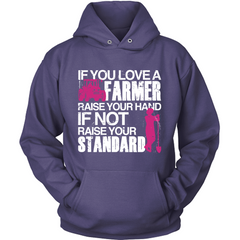 Farmer Raise Your Standards purple hoodie