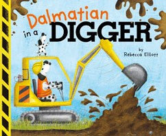 Dalmatian in a Digger by Rebecca Elliott