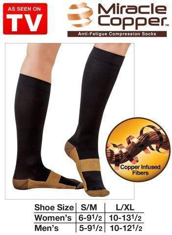 Health - Anti-Fatigue Miracle Copper Socks - #1 Best Seller!