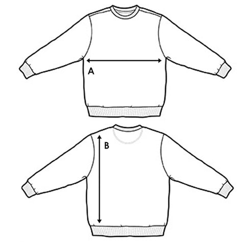 Long Sleeve Crew Size Chart Method Of Denim