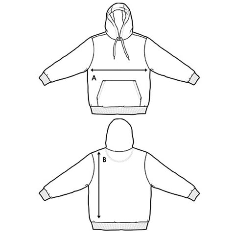 Hoodies Size Chart Method Of Denim