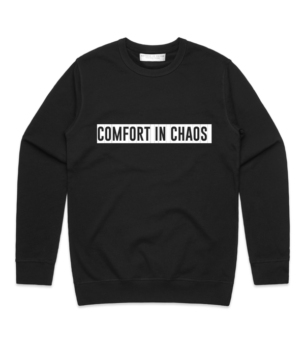 Method of Denim Custom Apparel Comfort in chaos Crew Sweatshirt