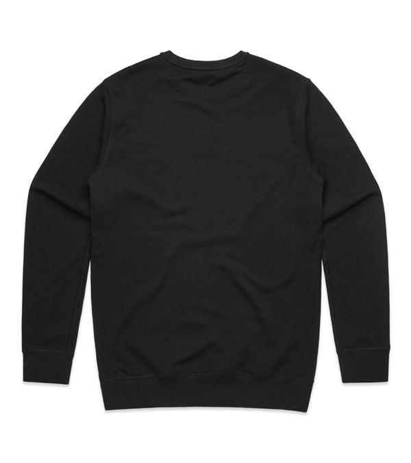 Method of Denim Custom Apparel Custom Crew Jumper - Black (3825310695510)