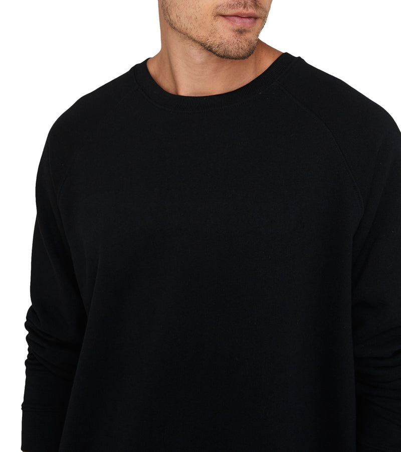 Method of Denim Custom Apparel Custom Long Sleeve T-Shirt Black (3589400068182)