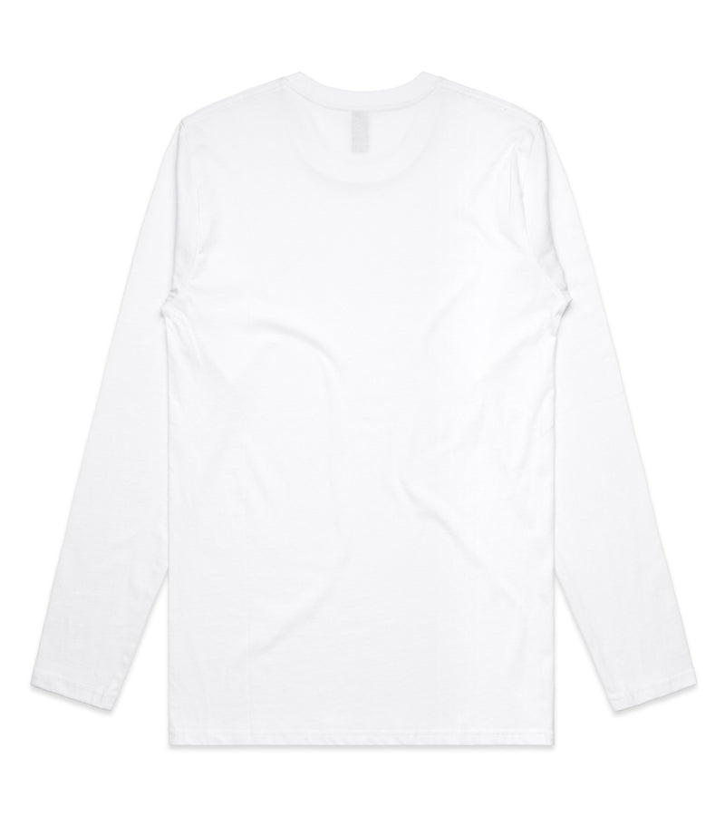 Method of Denim Custom Apparel Custom Long Sleeve T-Shirt White (3589381062742)