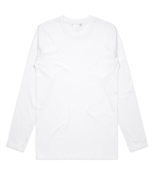 Method of Denim Custom Apparel Custom Long Sleeve T-Shirt White