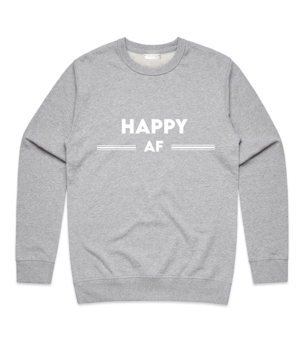 Method of Denim Custom Apparel Happy AF Crewneck