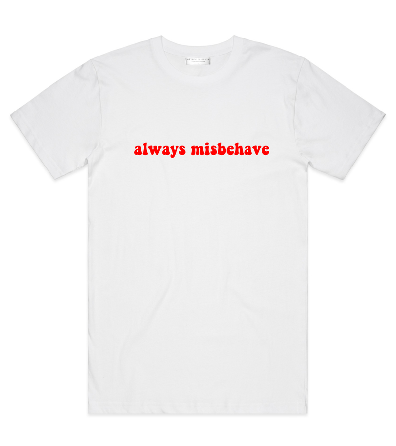 Method of Denim Custom Apparel Misbehave Tee