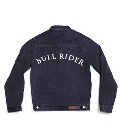 Method of Denim Jacket Bull Rider - Custom Denim Jacket (3970965962838)