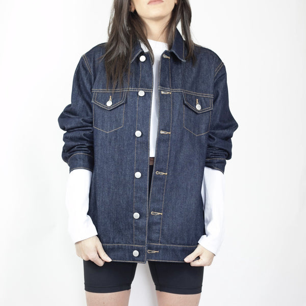 Method of Denim Jacket Free Pour Denim Trucker Jacket - Raw