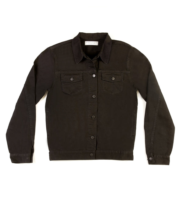 Method of Denim Jacket Free Pour Trucker Jacket - Black (1328102211670)