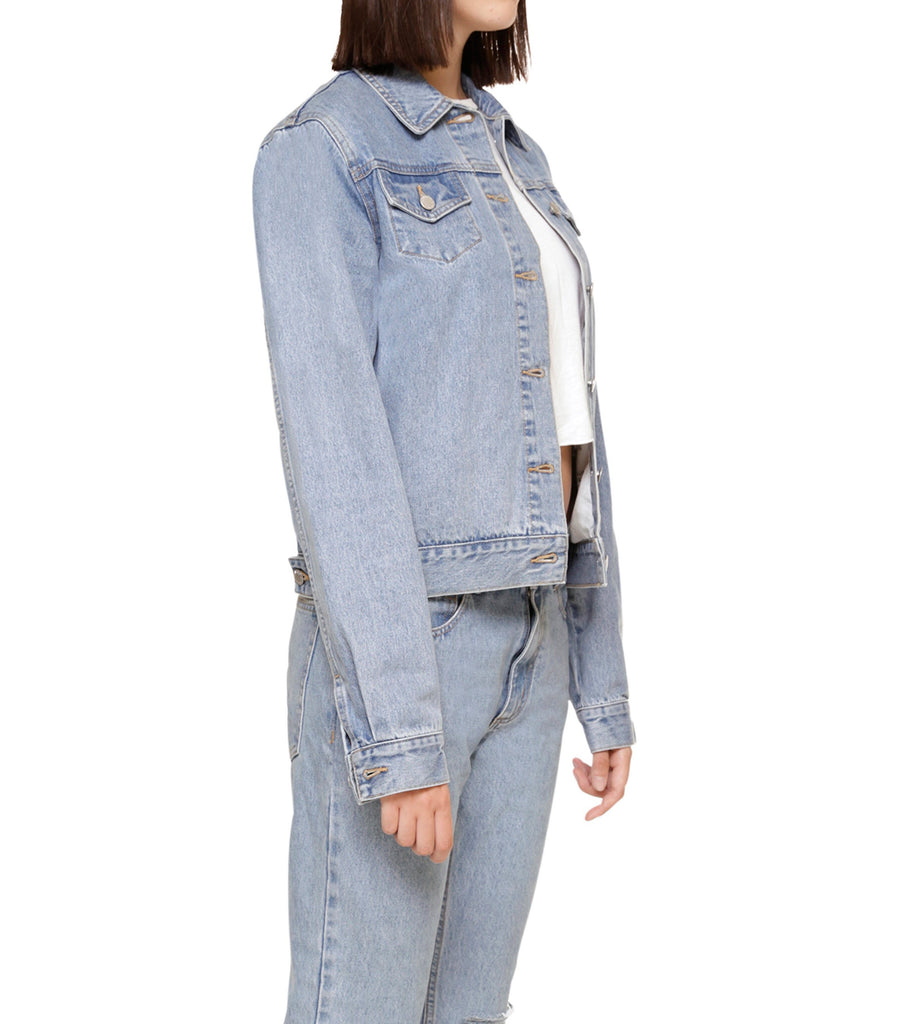 Method of Denim Jacket Free Pour Trucker Jacket - Light Blue