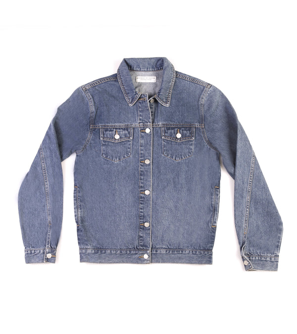 Method of Denim Jacket Free Pour Trucker Jacket - Vintage Blue (1328102277206)