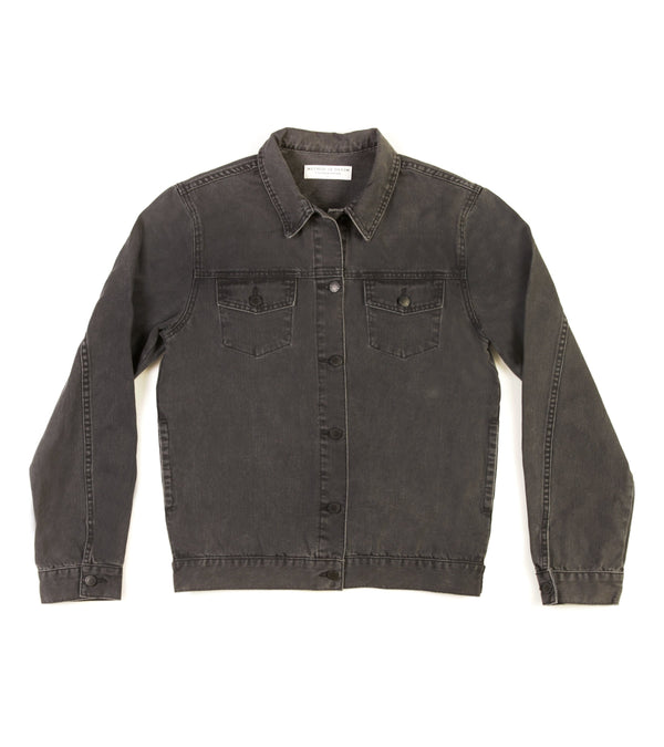 Method of Denim Jacket Free Pour Trucker Jacket - Washed Black
