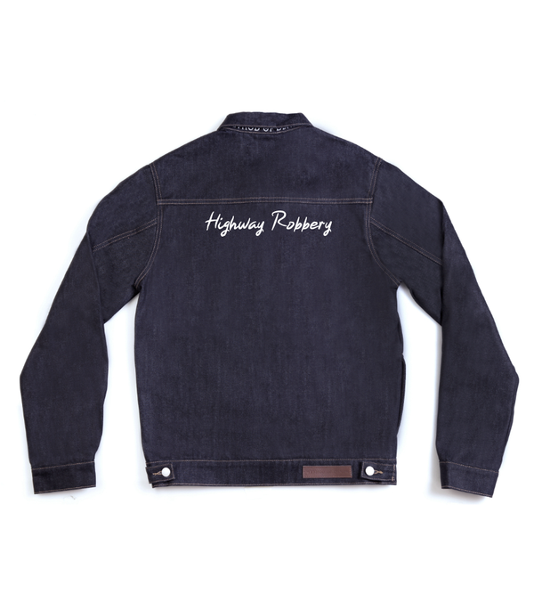 Method of Denim Jacket Highway Robbery - Custom Denim Jacket