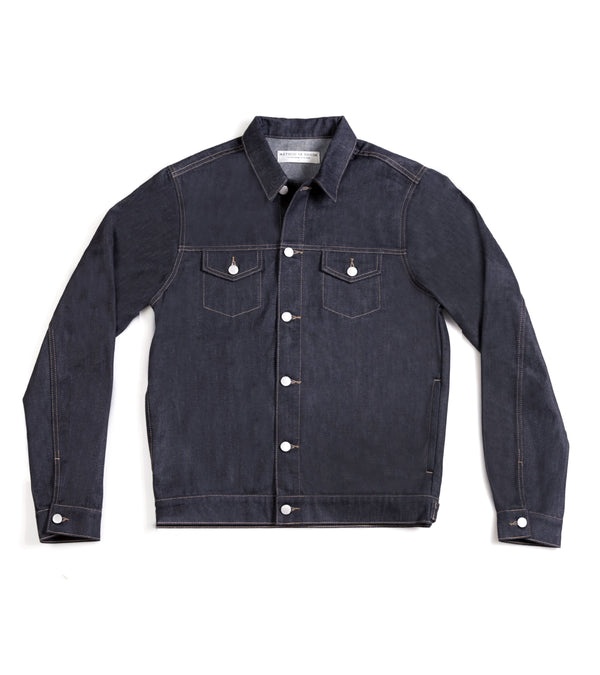 Method of Denim Jacket Rebel Yell Trucker Jacket - Raw (1378455650390)