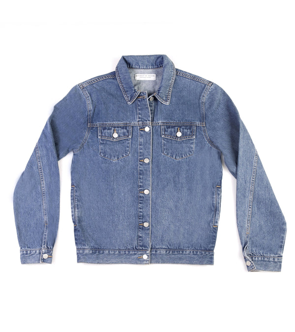 Method of Denim Jacket Rebel Yell Trucker Jacket - Vintage Blue (1328102539350)