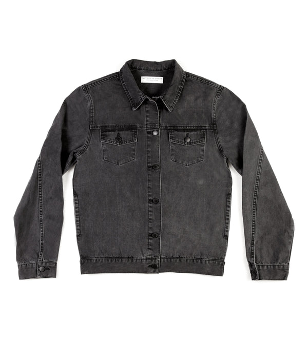 Method of Denim Jacket Rebel Yell Trucker Jacket - Washed Black (1378455552086)